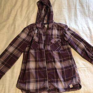 Carhartt hooded flannel